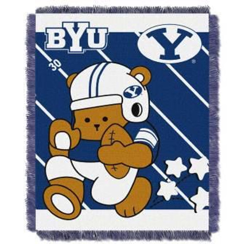 BYU Brigham Young Cougars Fullback Baby Woven Jacquard Throw