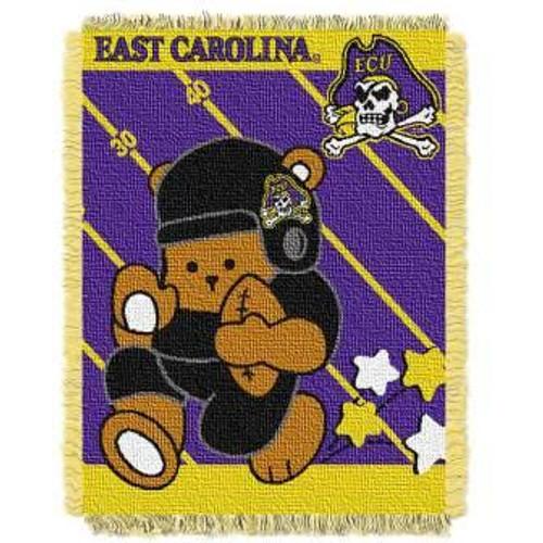 East Carolina Pirates Fullback Baby Woven Jacquard Throw