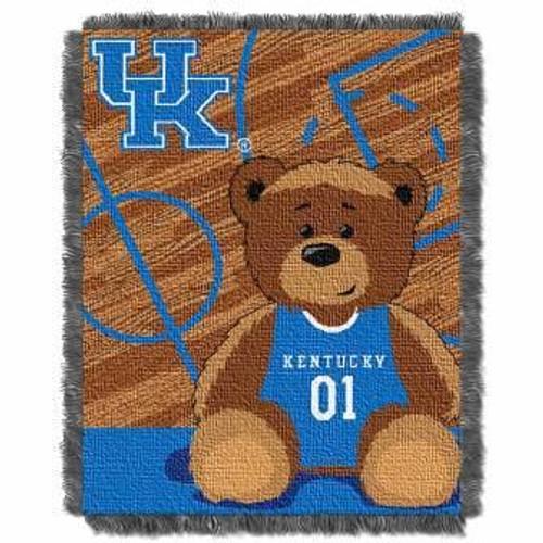 Kentucky Wildcats Half Court Baby Woven Jacquard Throw