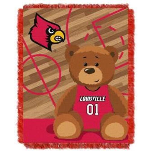 Louisville Cardinals Half Court Baby Woven Jacquard Throw