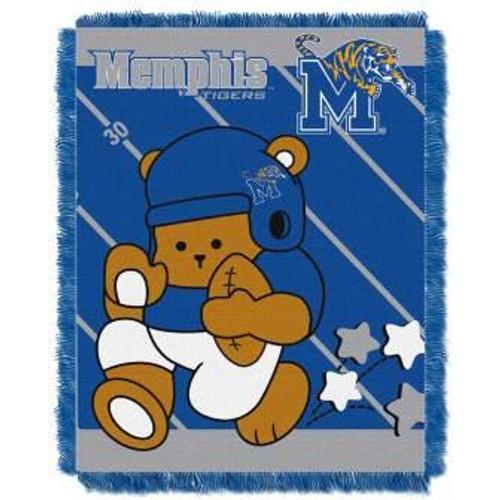 Memphis Tigers Fullback Baby Woven Jacquard Throw