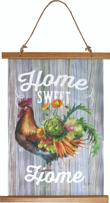 Our Rooster Garden17 x 26 Wall Hanging