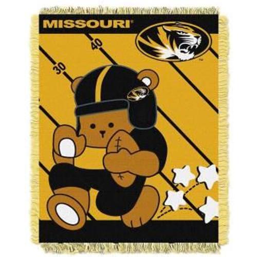 Missouri Tigers Fullback Baby Woven Jacquard Throw