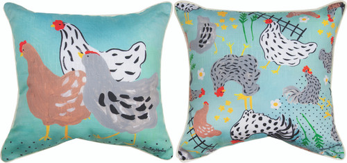 Rise And Shine Roosters 18 x 18 Pillow