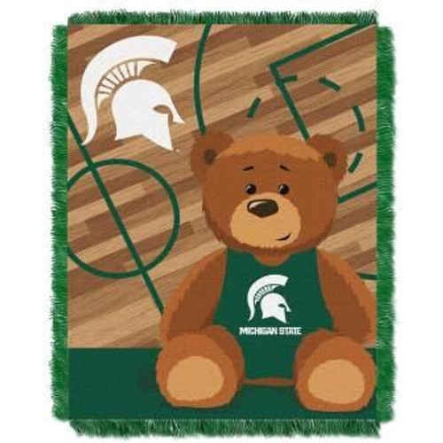 Michigan State Spartans Half Court Baby Woven Jacquard Throw