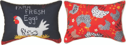 Rise And Shine Roosters 18 x 13 Pillow