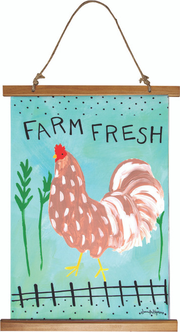 Rise And Shine Roosters 17 x 26 Wall Hanging