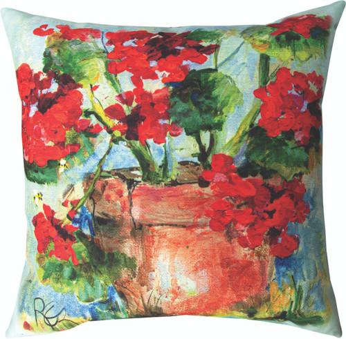 Geranium 18 x 18 Pillow