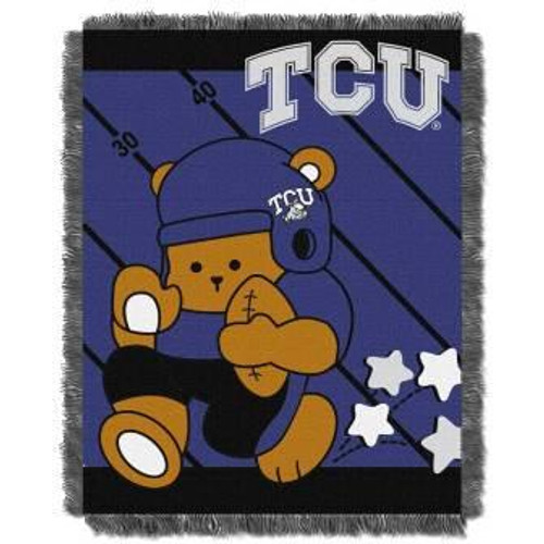 TCU Texas Christian Horned Frogs Fullback Baby Woven Jacquard Throw