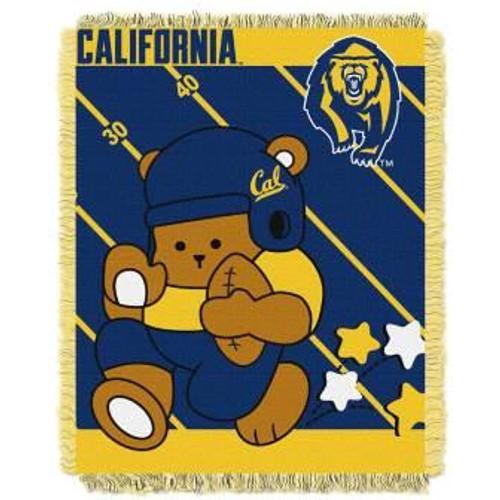 UC Berkeley Golden Bears Fullback Baby Woven Jacquard Throw
