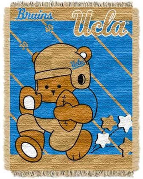 UCLA Bruins Fullback Baby Woven Jacquard Throw