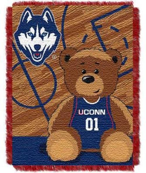UConn Huskies Half Court Baby Woven Jacquard Throw