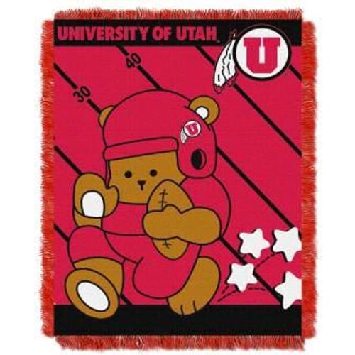 Utah Utes Fullback Baby Woven Jacquard Throw