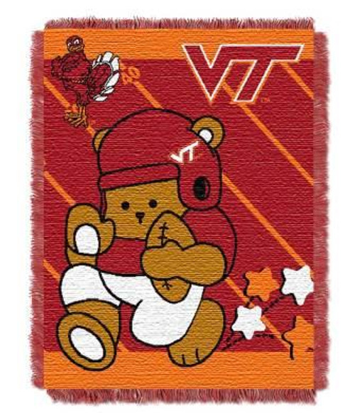 Virginia Tech Hokies Fullback Baby Woven Jacquard Throw