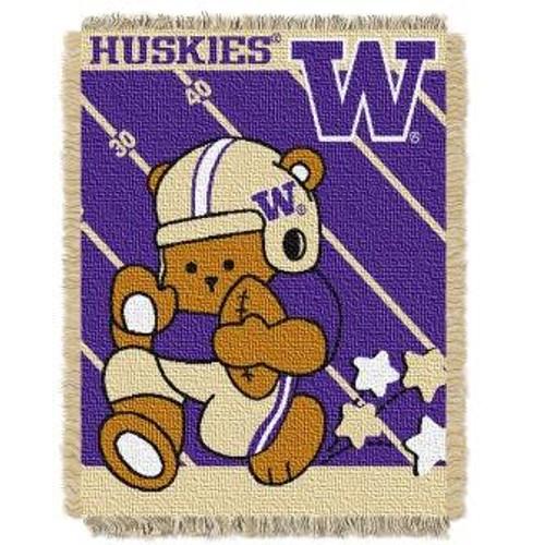 Washington Huskies Fullback Baby Woven Jacquard Throw