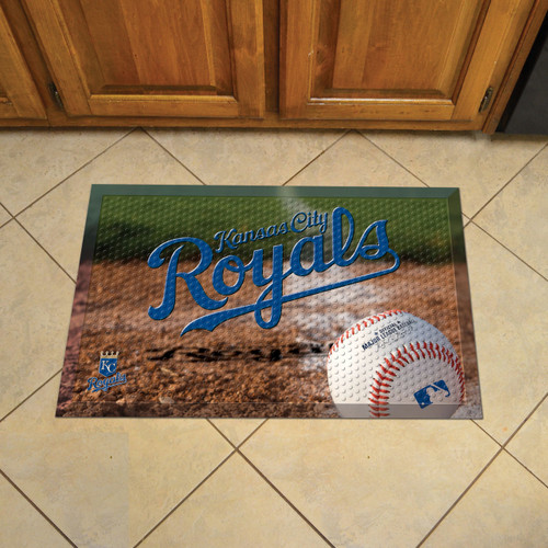 Kansas City Royals Baseball Scraper Mat