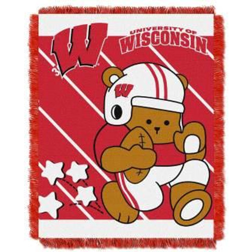 Wisconsin Badgers Fullback Baby Woven Jacquard Throw