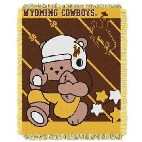 Wyoming Cowboys Fullback Baby Woven Jacquard Throw