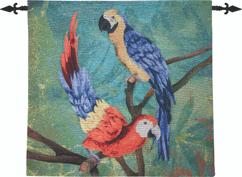 Pineapple And Parrot 26 x 26 Wall Hanging