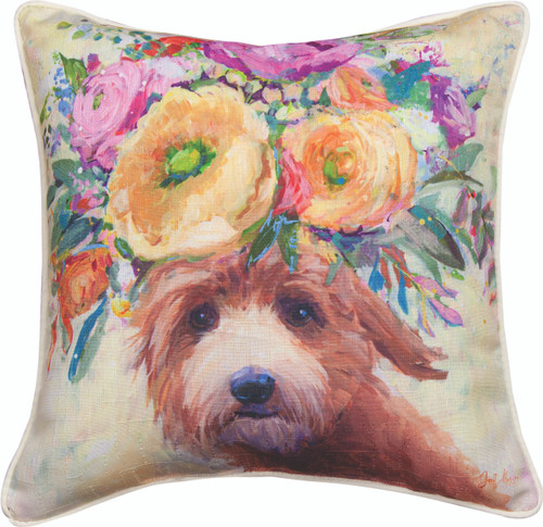 gs In Bloom Doodle 18 x 18 Pillow