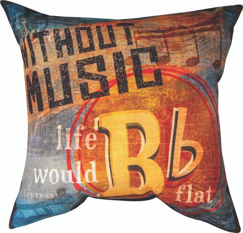 Without Music Guitar 18 x 18 Pillow