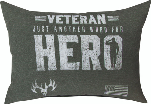 Veteran Another Word For Hero 18 x 13 Pillow