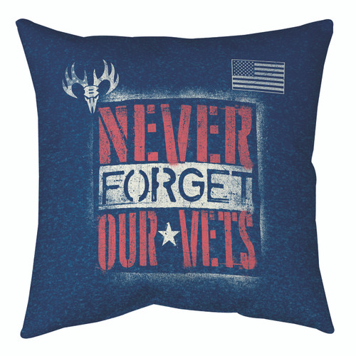 Never Forget Our Vets 12 x 12 Buck Wear Pillow