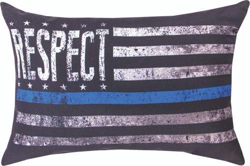 Respect The Police 18 x 13 Pillow