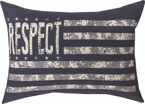 Respect The Armed Forces 18 x 13 Pillow