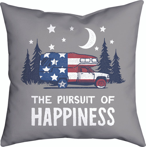 The Pursuit Of Happiness 18 x 18 Pillow