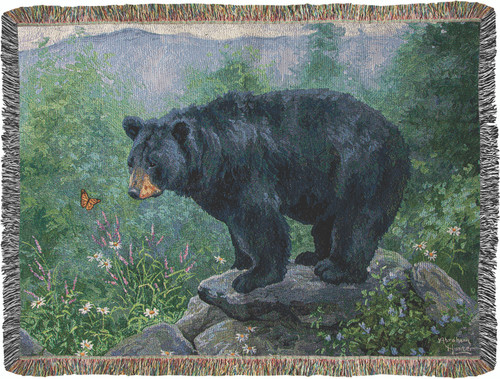 Butterfly Watching 50 x 60 Tapestry Throw