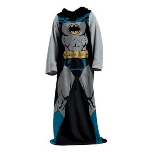 Batman Batman in Black Adult Comfy Throw Blanket with Sleeves