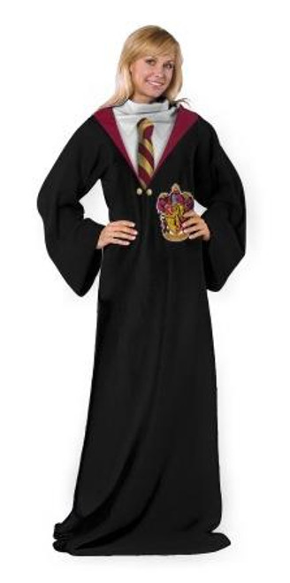 Harry Potter Hogwarts Rules Adult Comfy Throw Blanket with Sleeves