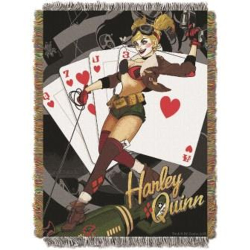 Batman Harley Queen Clown Tapestry Throw