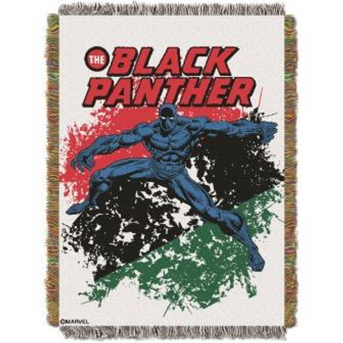 Black Panther Panther Defend Tapestry Throw