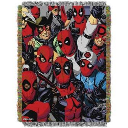 Deadpool We Are All Here Tapestry Throw