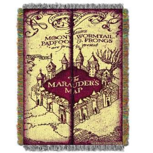 Harry Potter Marauders Map Tapestry Throw