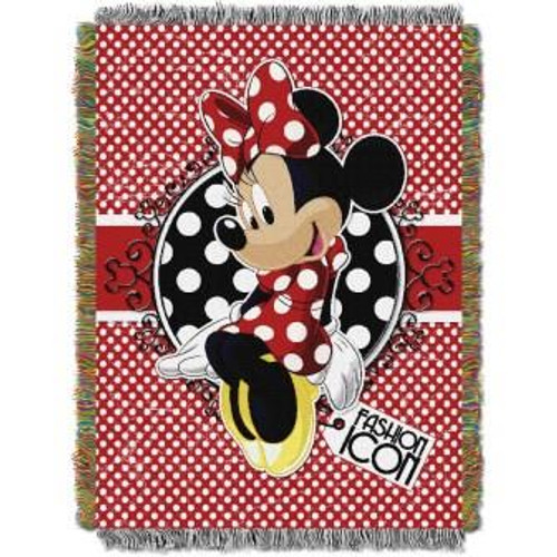 Minnie Bowtique Forever Minnie Tapestry Throw