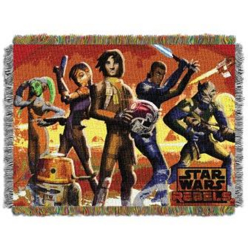Star Wars Red Hot Rebels Tapestry Throw