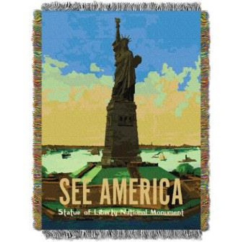 Statue of Liberty Tapestry Throw