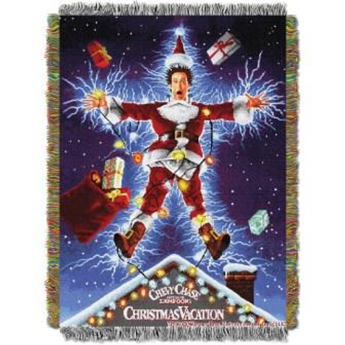 Christmas Vacation Shocking Chevy Tapestry Throw