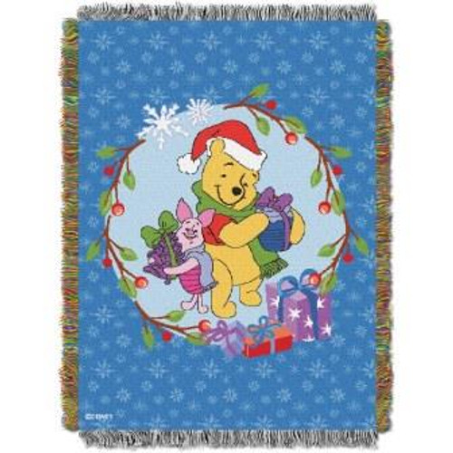 Winnie the Pooh Homemade Holiday Tapestry Throw