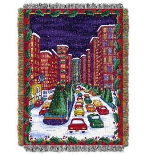 Holiday City Tapestry Throw