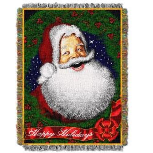 Howdy Santa Tapestry Throw