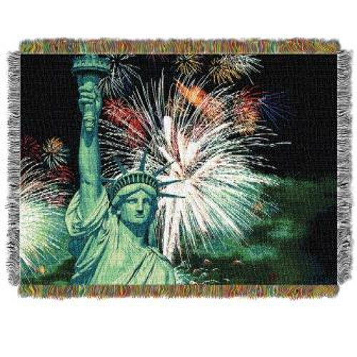 Lady Liberty Tapestry Throw