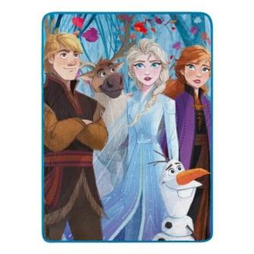 Frozen 2 Fall Foilage Micro Raschel Throw Blanet