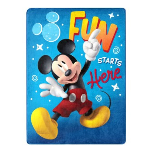 Mickey Mouse Fun with Mickey Silk Touch Throw Blanket