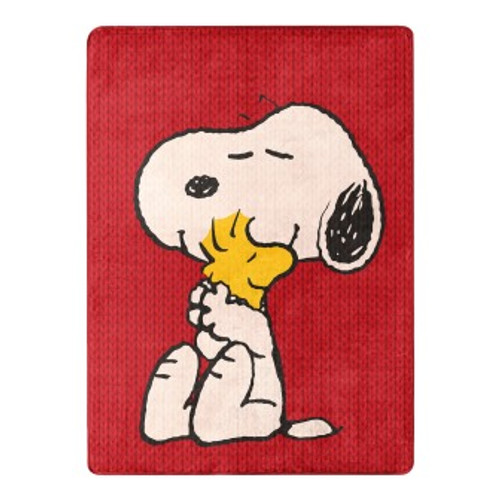 Peanuts Snoopy and Stock Silk Touch Throw Blanket