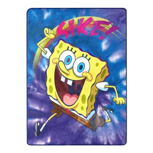 SpongeBob Tie Dye Ready Silk Touch Throw Blanket