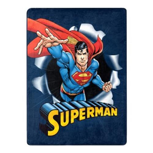Superman Hero Burst Silk Touch Throw Blanket